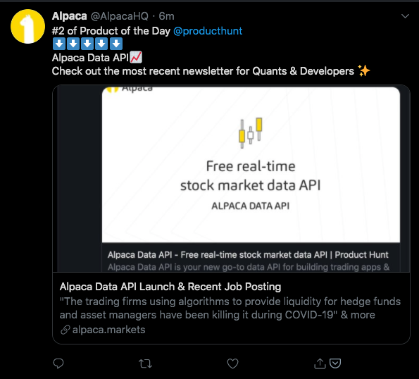 "Alpaca Web Dashboard: Hotkey ""/"" to Focus on the Search Bar & More - Alpaca Newsletter (May 20, 2020)"
