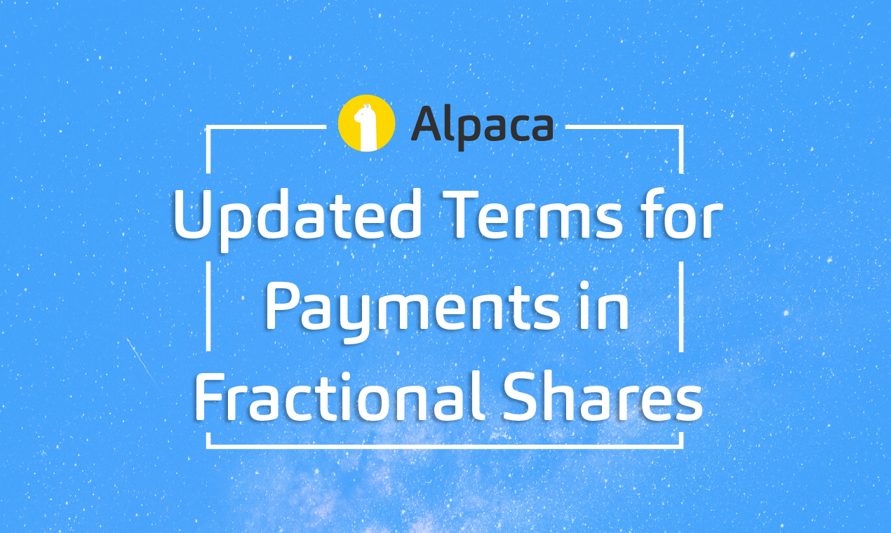 Updated Terms for Payments in Fractional Shares