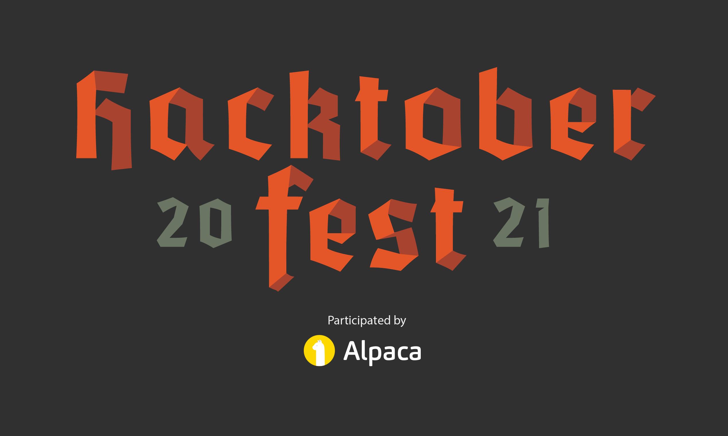 Hacktoberfest 2021 🎃 Celebrate Open Source with Alpaca