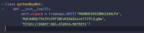 pythonBuyBot with our API keys