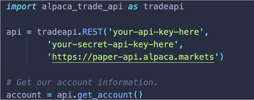 How to Connect to the Alpaca API?
